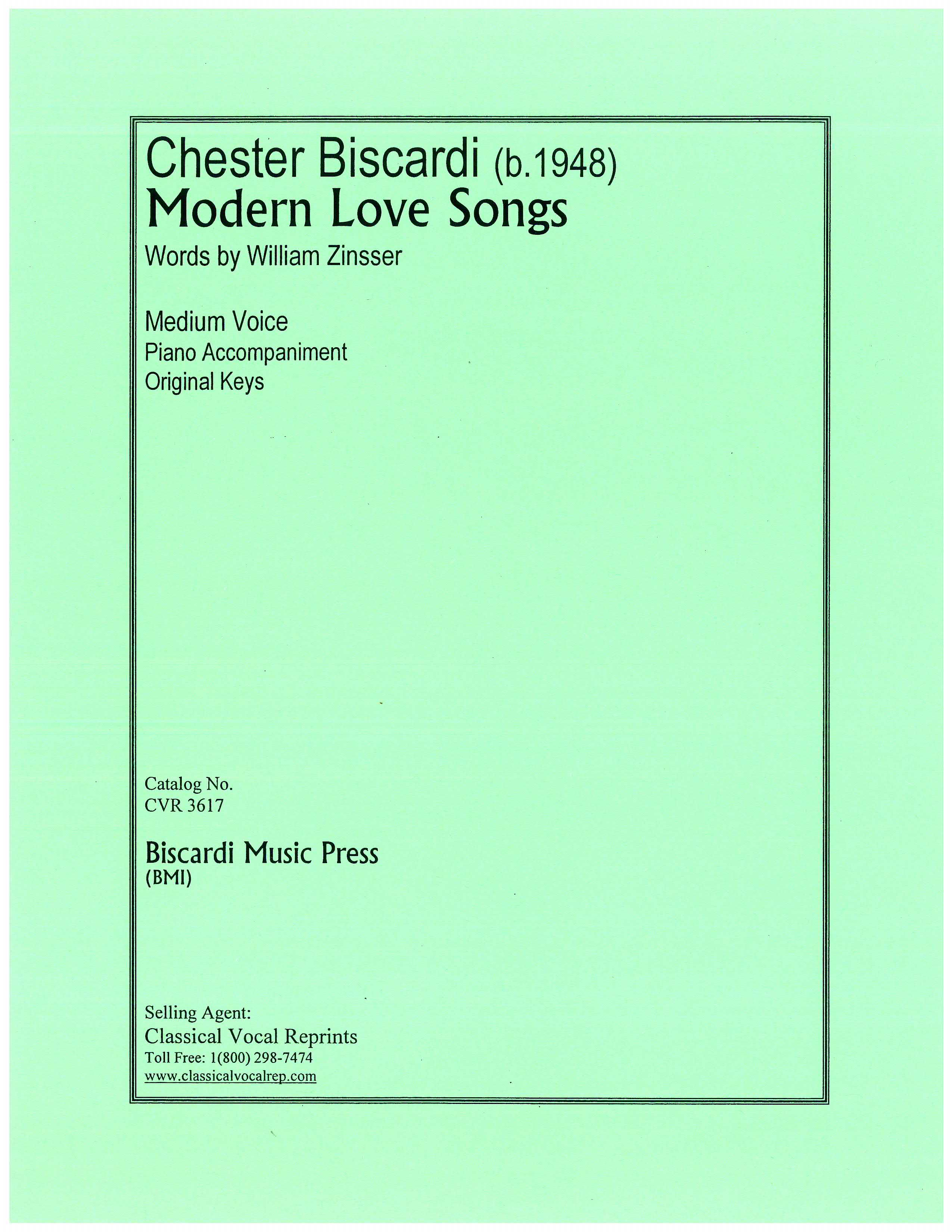 Modern Love Songs - Chester Biscardi, composer